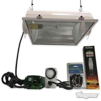 400 watt hpsmh white grow light system with timerremote ballast and air