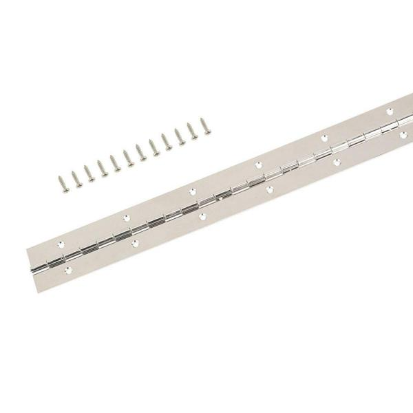 1-1/16 in. x 12 in. Bright Nickel Continuous Hinge