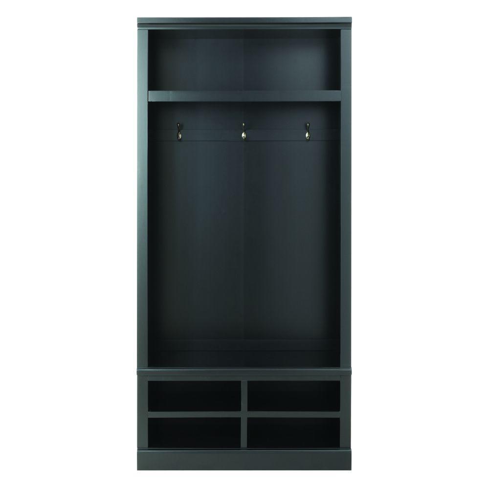 Shutter 74 in. H x 34.5 in. W x 18 in. D Modular Open Large Center Open Locker in Worn Black