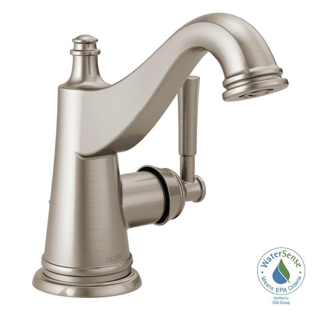 Mylan 4 in. Centerset Single-Handle Bathroom Faucet in SpotShield Brushed Nickel