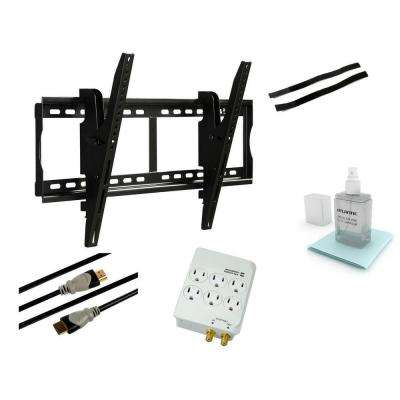 Tilting Steel Wall Mount Kit for 37 in. to 70 in. Flat Panel TVs - Black