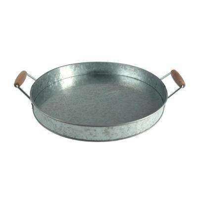 15.25 in. Galvanized Party Tray