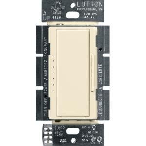 Maestro LED+ Dimmer Switch for Dimmable LED, Halogen and Incandescent Bulbs, Single-Pole or Multi-Location, Almond