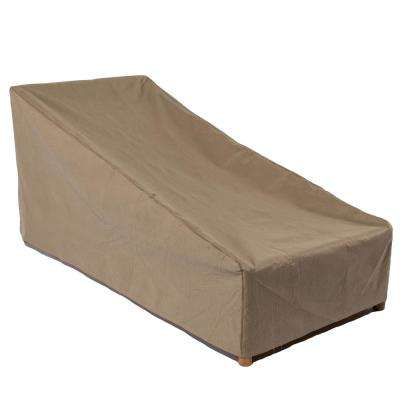 Essential 80 in. Tan Patio Chaise Lounge Cover