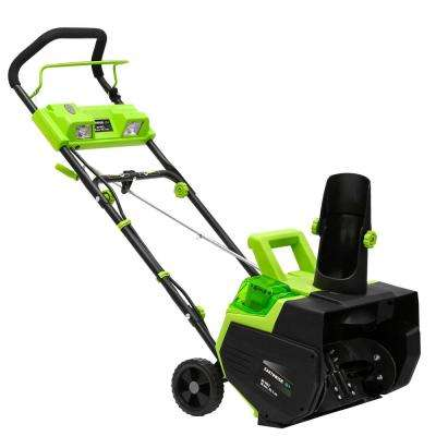 22 in. 40-Volt Cordless Electric Snow Thrower with 4.0 Ah Battery and Charger Included