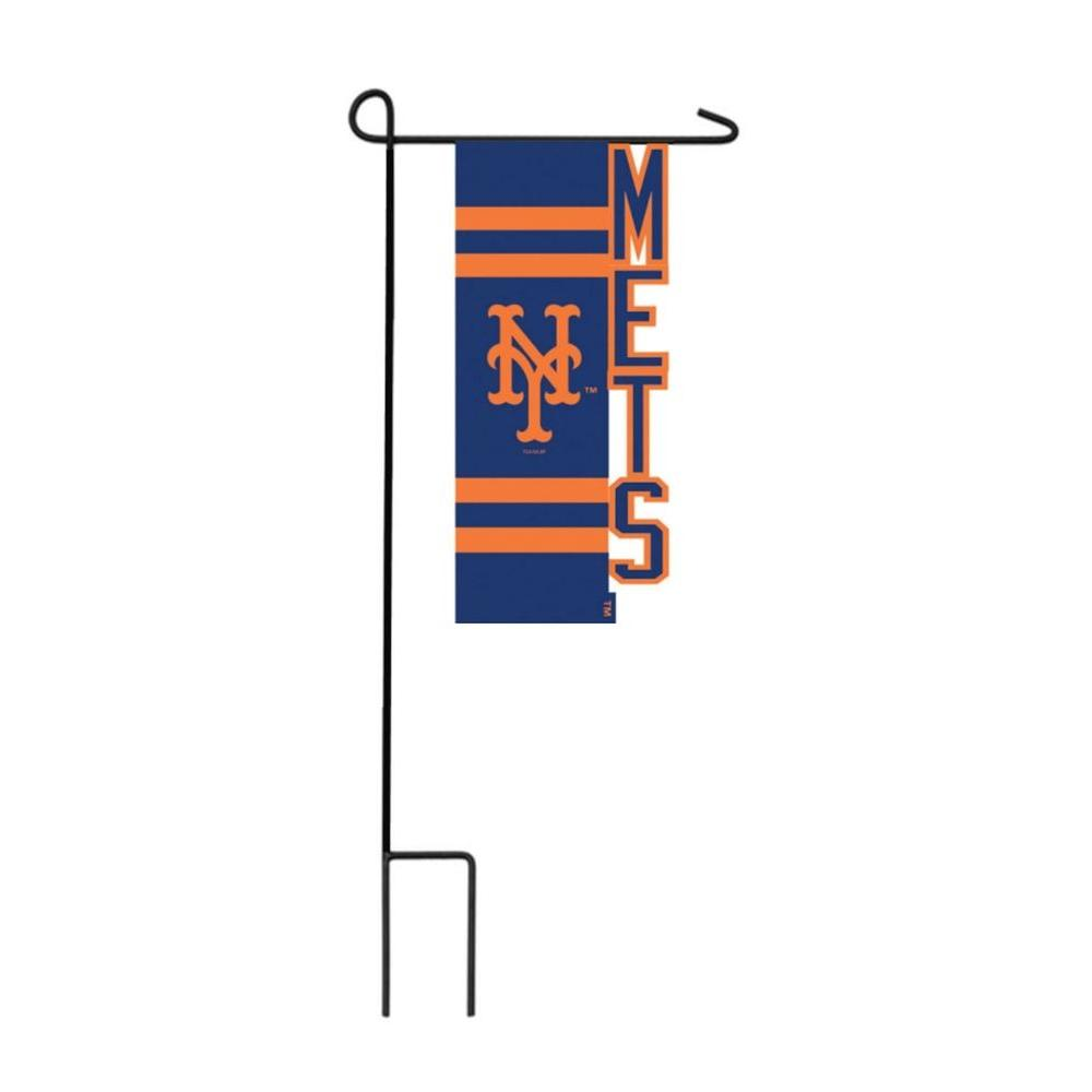 Team Sports America MLB 1 Ft. X 1 1/2 Ft. New York Mets Nylon Sculpted Garden  Flag With 3 2/3 Ft. Metal Flagpole P127348   The Home Depot