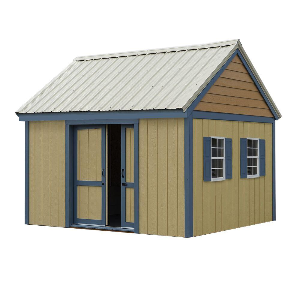Best barns brookhaven 10 ft x 12 ft wood storage shed for Barn storage shed