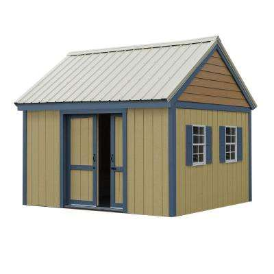Brookhaven 10 ft. x 12 ft. Wood Storage Shed Kit