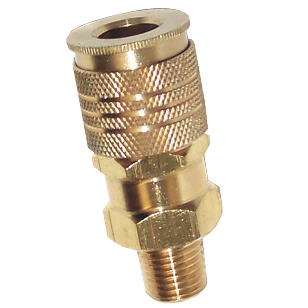 Husky in npt male industrial brass plug