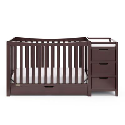 Remi Espresso 4-in-1 Convertible Crib and Changer