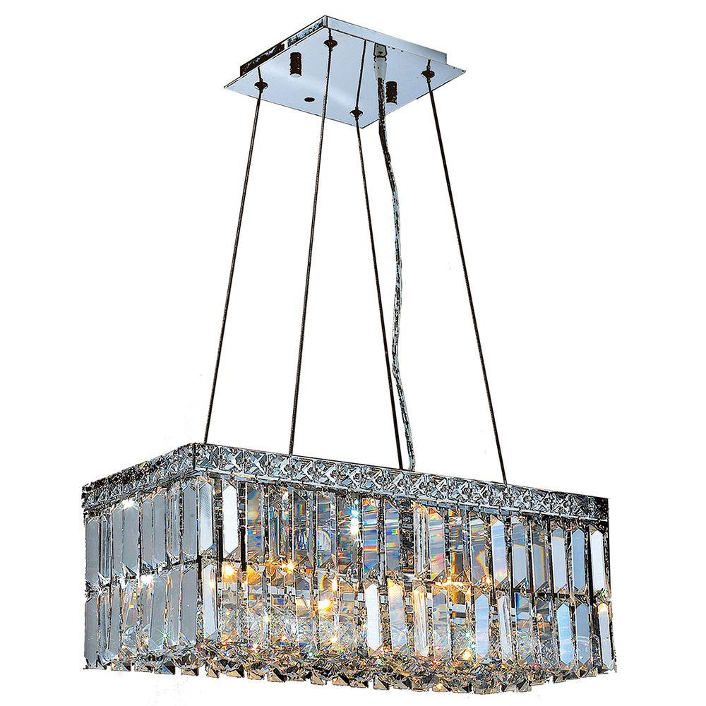 Cascade Collection 4-Light Polished Chrome and Crystal Chandelier