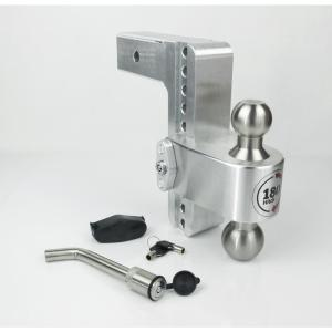 8-Inch Drop 8-Inch Rise YITAMOTOR Adjustable Trailer Hitch Ball Mount 2-Inch Receiver 2-Inch and 2-5//16-Inch Dual Towing Balls with Double Pin Key Locks