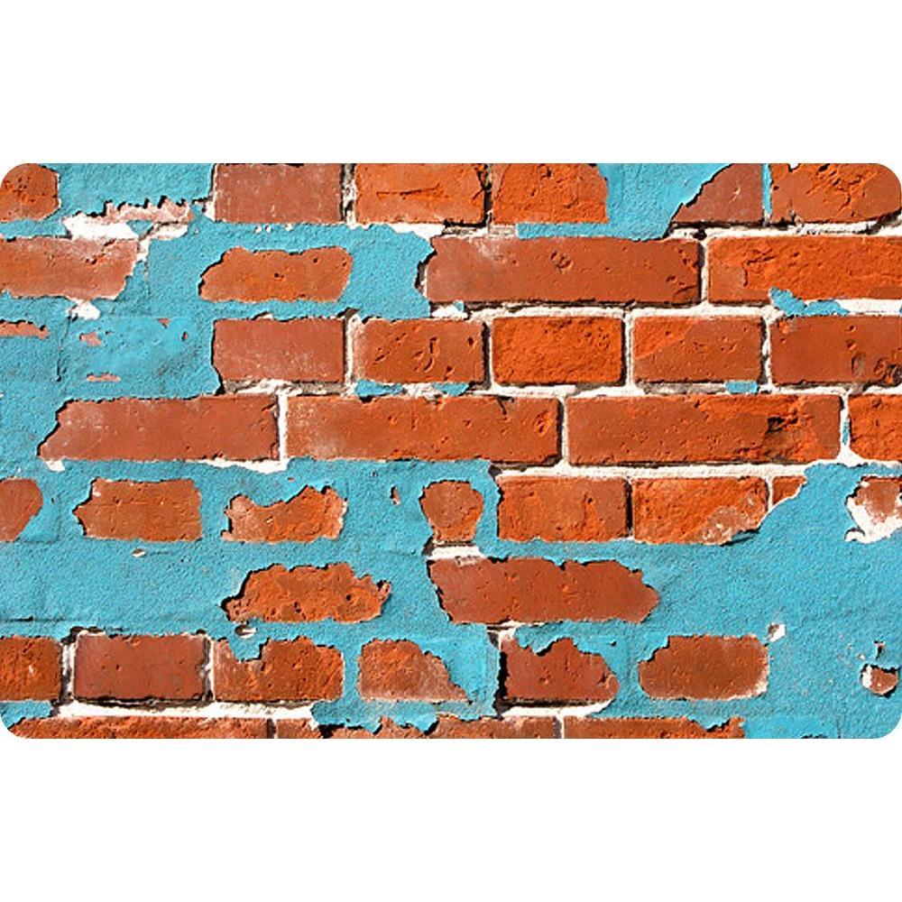 Multi Color 23 in. x 36 in. Neoprene Brick Door Mat