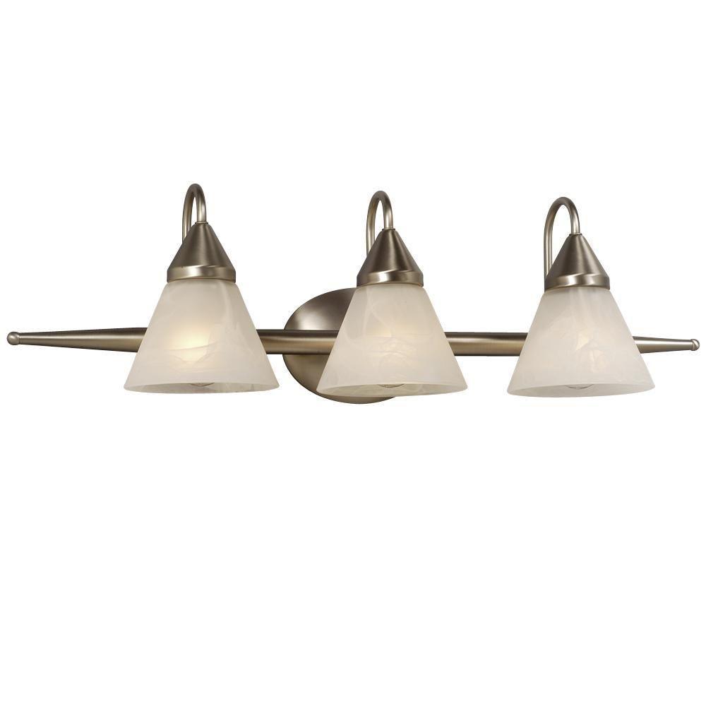 Filament Design Negron 3-Light Brushed Chrome Incandescent Bath Vanity Light