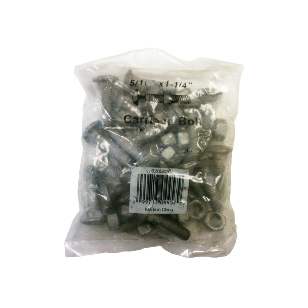 5/16 in. x 1-1/4 in. Galvanized Carriage Bolt (20-Pack)