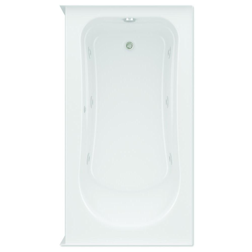 Dossi 32 5 ft. Left Drain Acrylic Whirlpool Bath Tub in