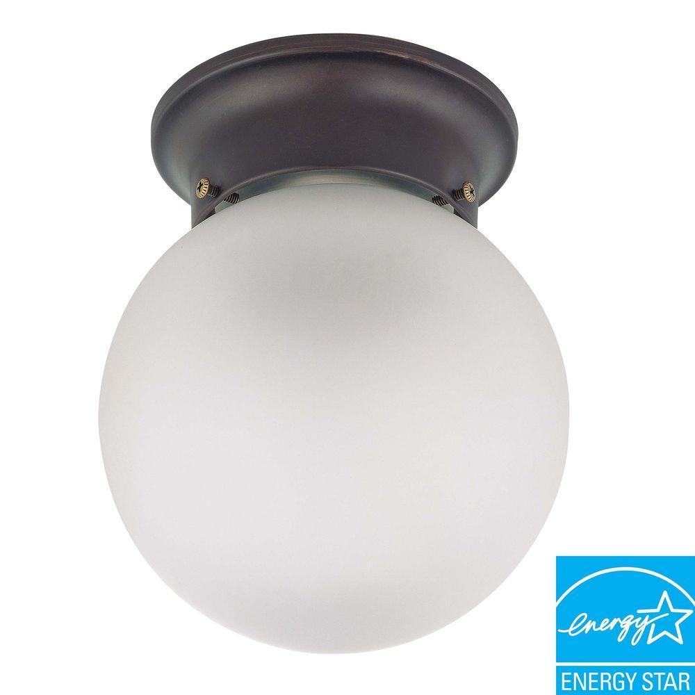 Fluorescent Light Noise: Green Matters 1-Light Ceiling Mahogany Bronze Fluorescent