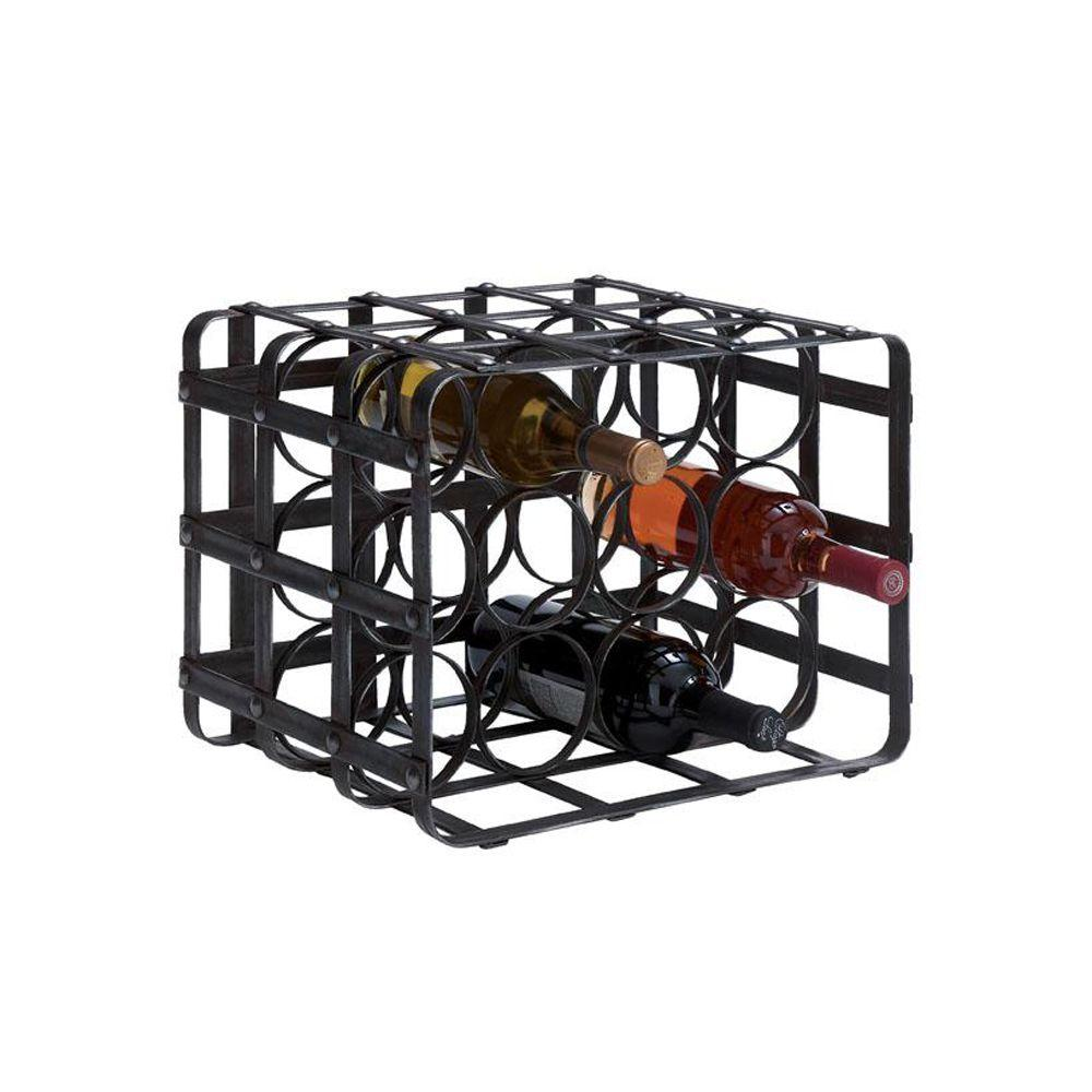Home Decorators Collection 16 in. W Wine Rack in Belize Black