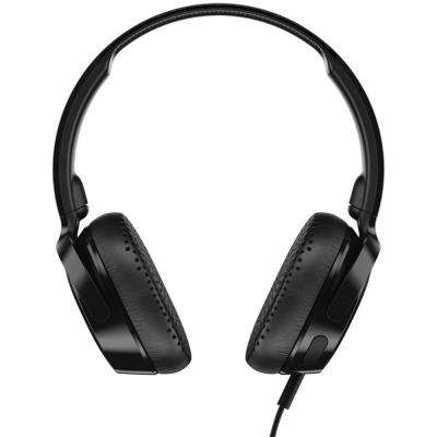 Riff On-Ear Wired Headphones with Microphone in Black