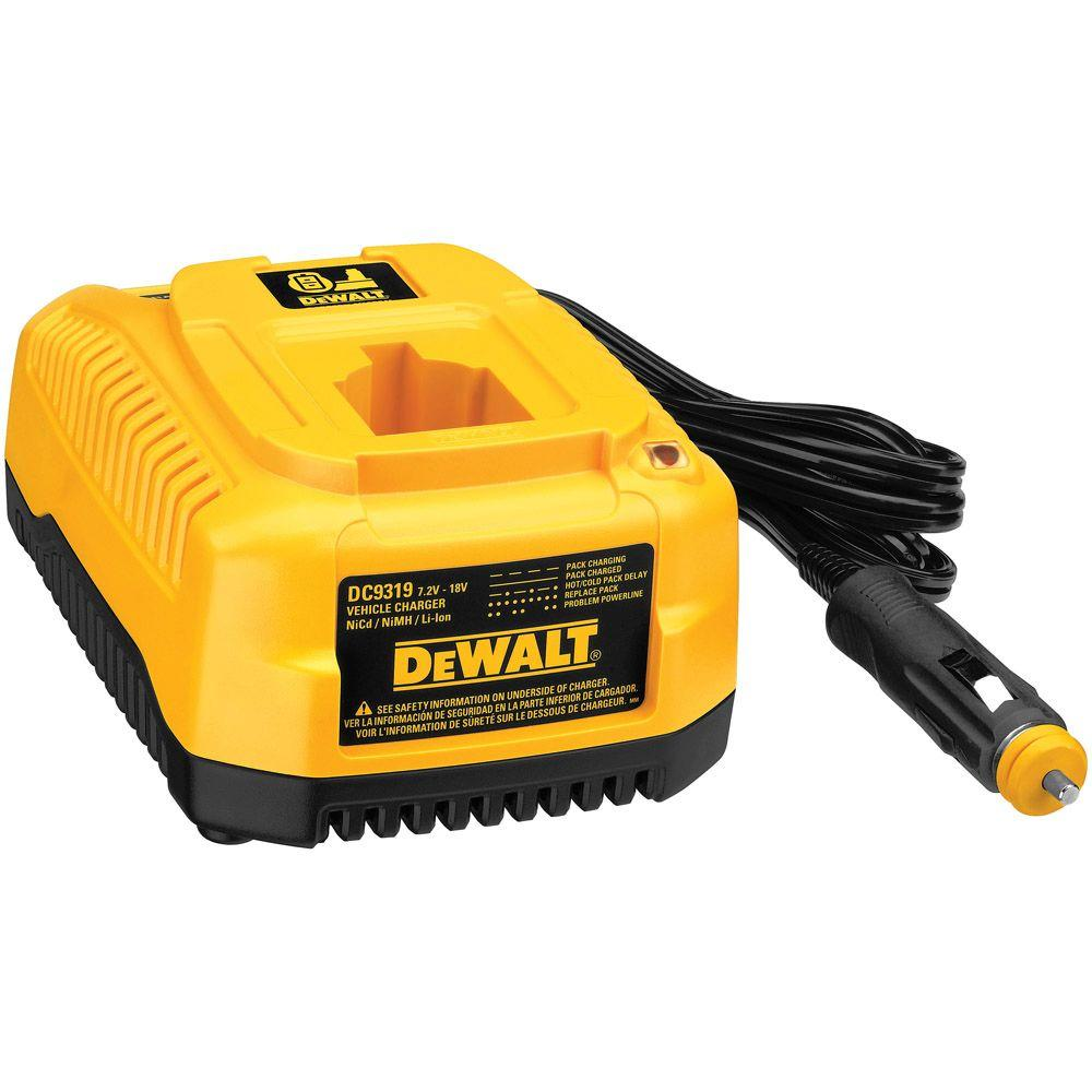 DEWALT 7.2-Volt-18-Volt Ni-Cd/NiMH/Lithium-Ion 1 Hour Vehicle Charger