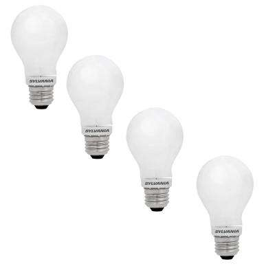 60-Watt Equivalent A19 Dimmable Energy Saving Household LED Light Bulb Warm White (4-Pack)