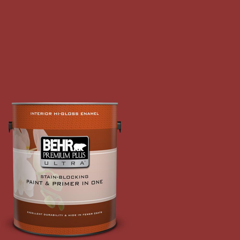 1 gal. #BIC-49 Red Red Red Hi-Gloss Enamel Interior Paint