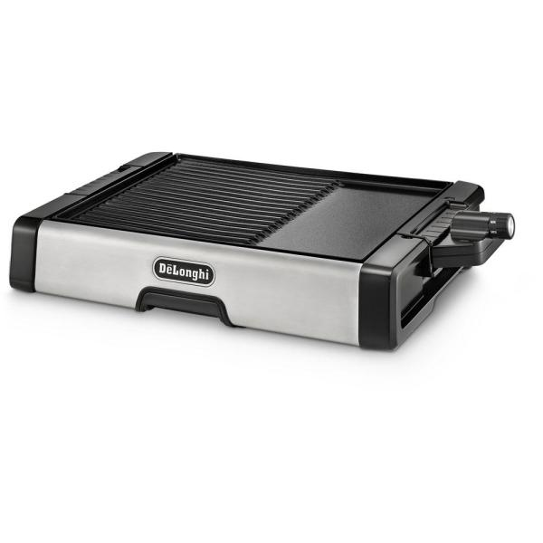 DeLonghi 2-in-1 186 sq. in. Stainless Steel Indoor Grill
