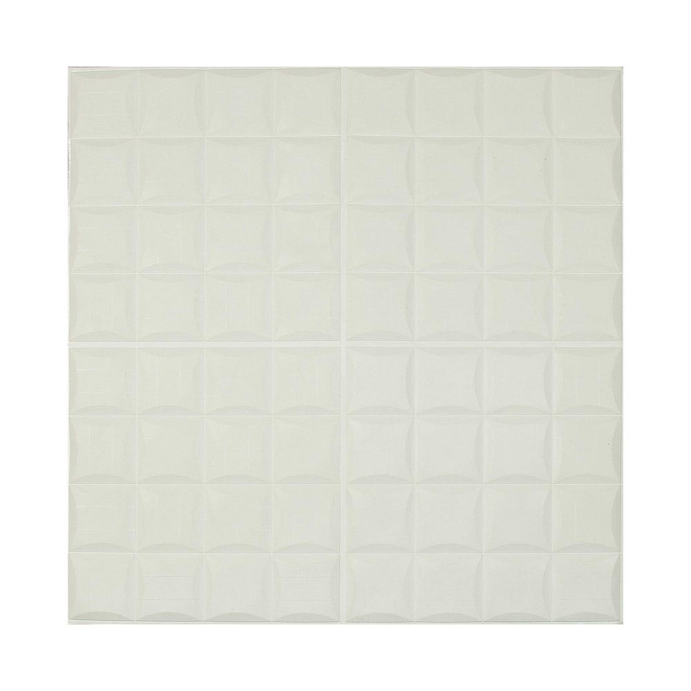 Ejoy White 3D Small Square Pattern Sticker For Wall Decor 28 in. x 28 in. (20-piece) was $88.99 now $36.7 (59.0% off)