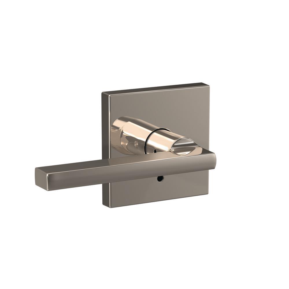 Custom Latitude Polished Nickel Collins Trim Combined Interior Door Lever