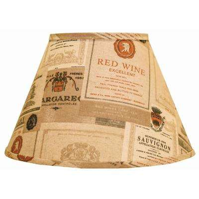 6 in. x 8 in. Brown Lamp Shade