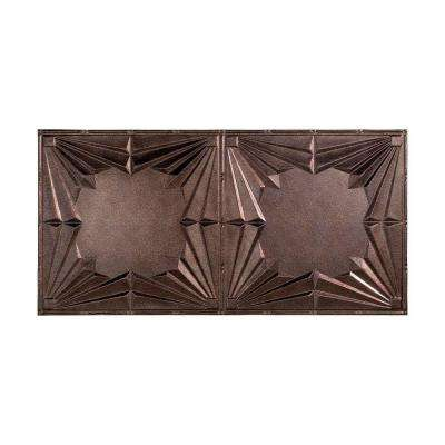 Art Deco - 2 ft. x 4 ft. Glue-up Ceiling Tile in Smoked Pewter
