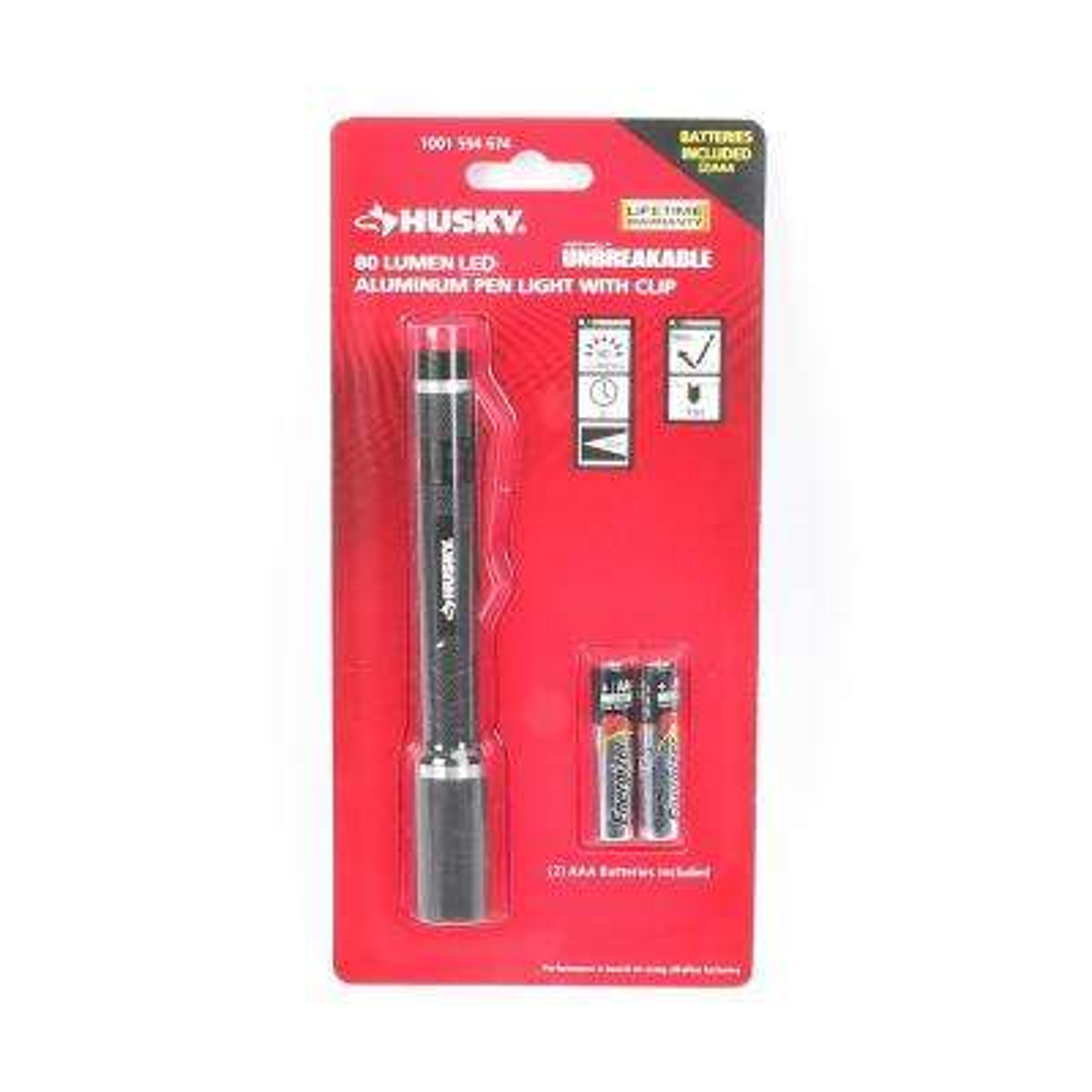 80-Lumen Virtually Unbreakable Aluminum Pen Light with Clip