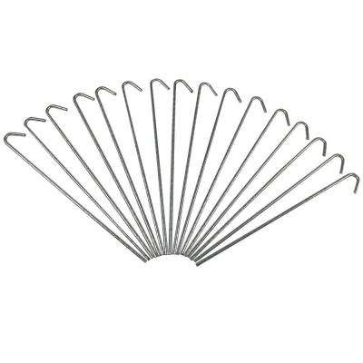Heavy-Duty Galvanized Steel Canopy and Tarp Stakes (Set of 16)