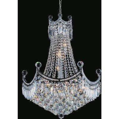 Amanda 11-light chrome chandelier