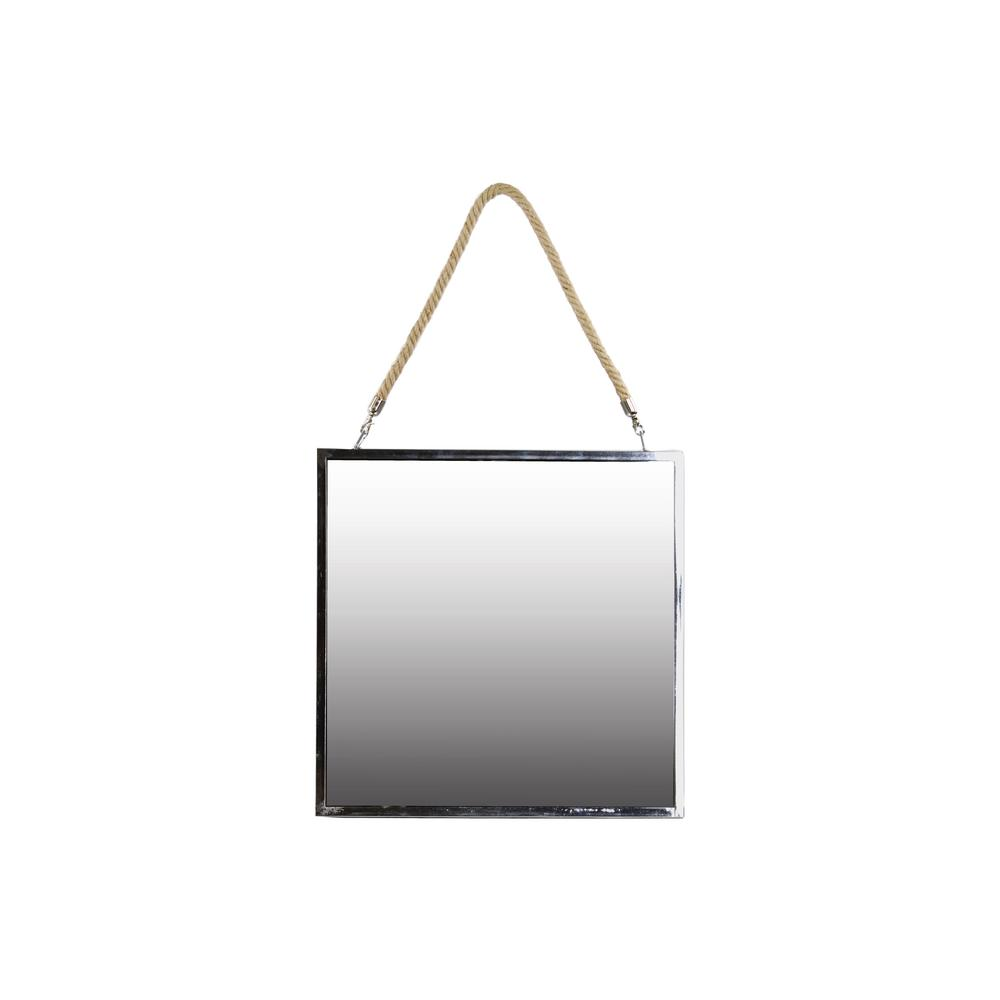 Urban Trends Collection Square Silver Polished Chrome