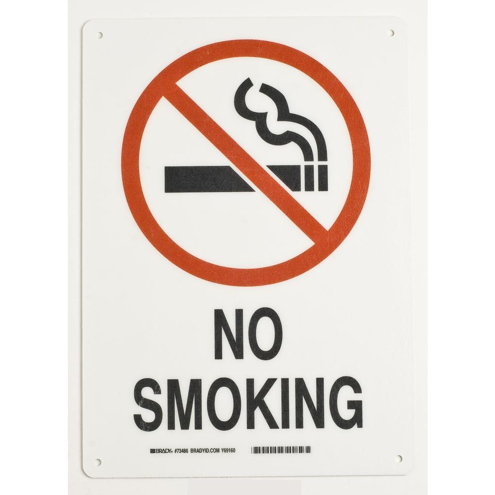 14 in. x 10 in. Fiberglass No Smoking Sign