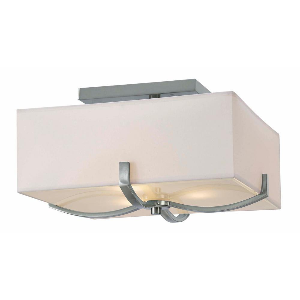 Palmer 3-Light Brushed Nickel Flushmount Light