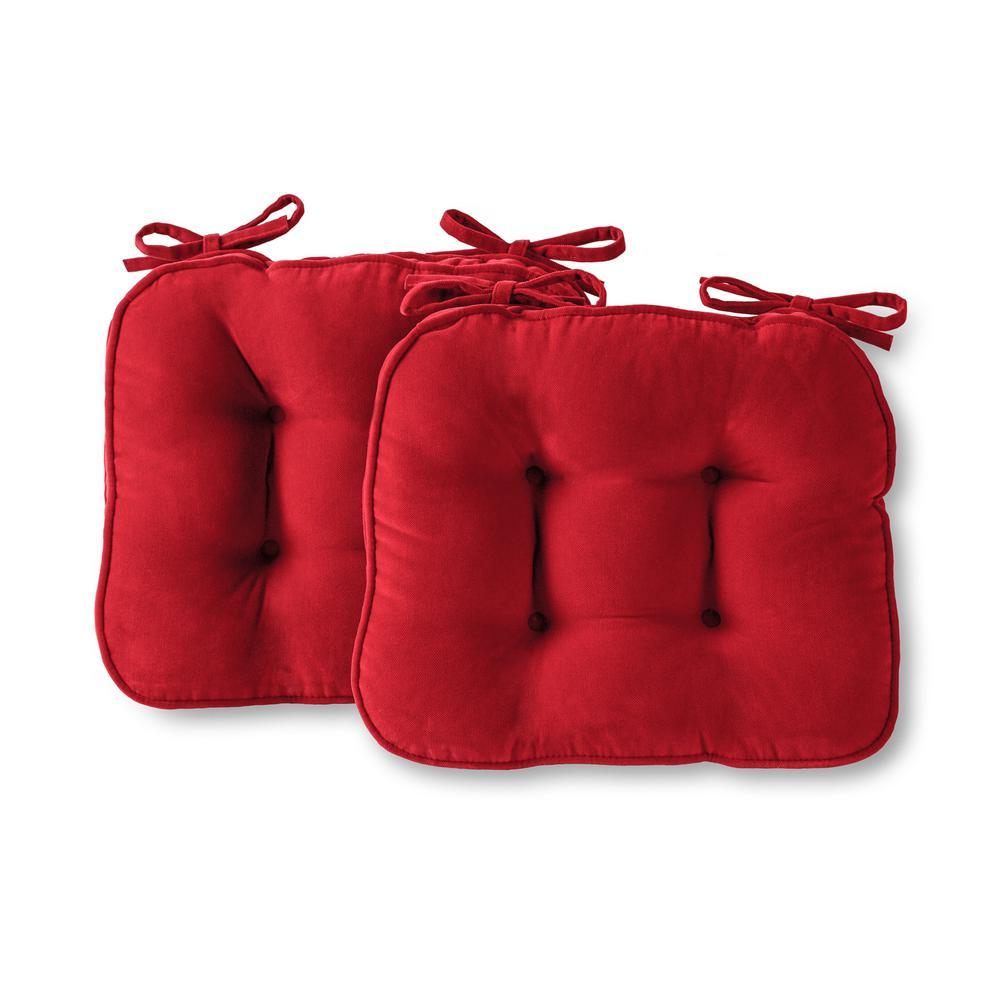 Hyatt Scarlet Microfiber Chair Pad (Set of 2)