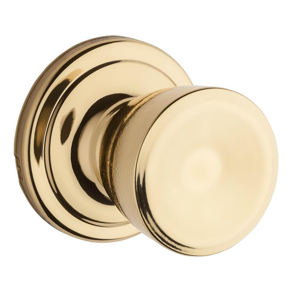 Abbey Polished Brass Hall/Closet Knob