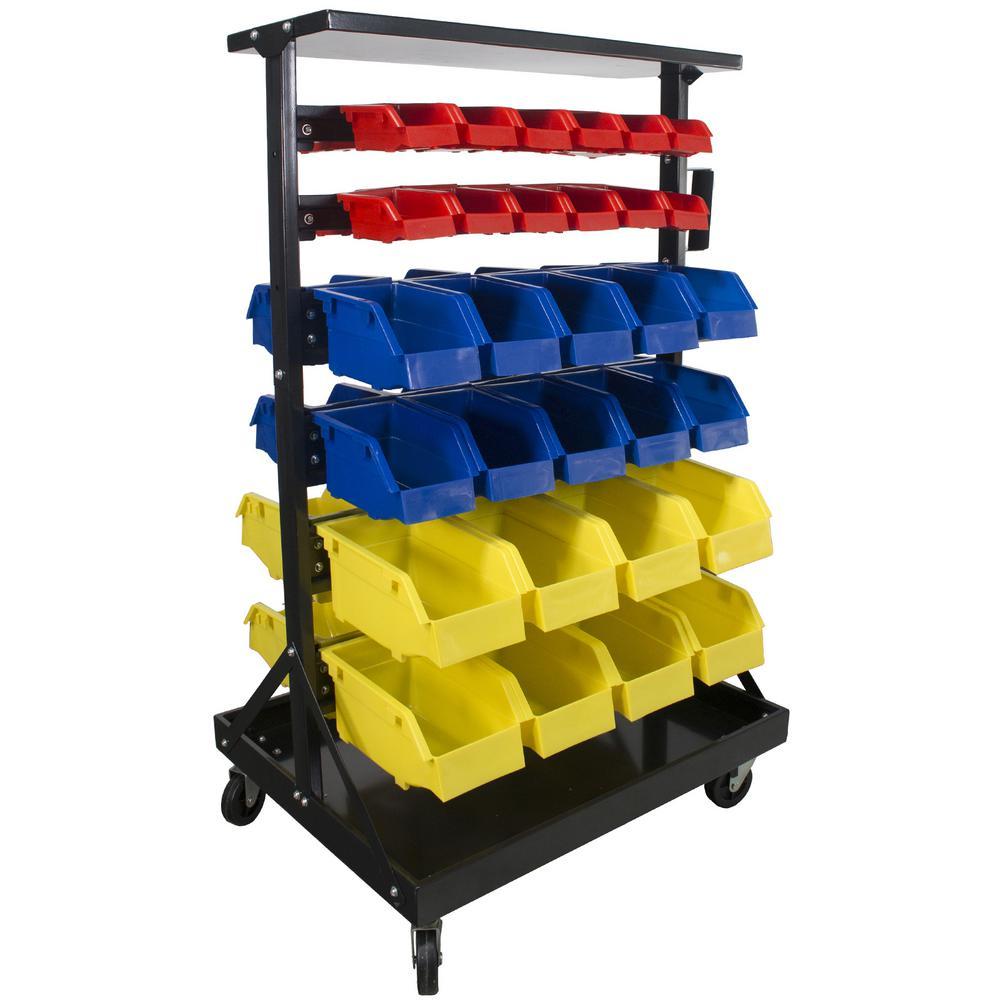 42-3/4 in. x 20-1/2 in. x 12 in. 60-Bin Parts Rack