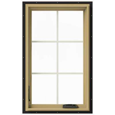 24 in. x 40 in. W-2500 Left-Hand Casement Aluminum Clad Wood Window