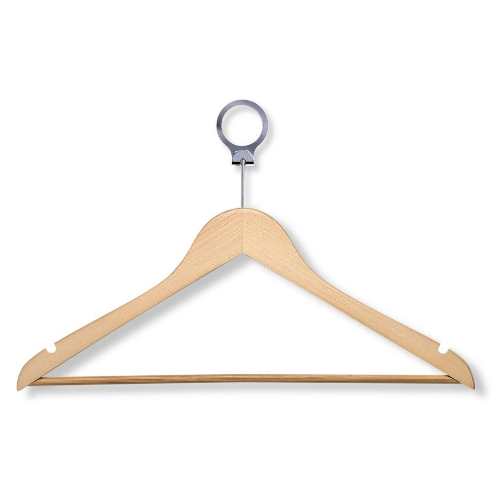 Honey-Can-Do Maple Hotel Suit Hangers (24-Pack)