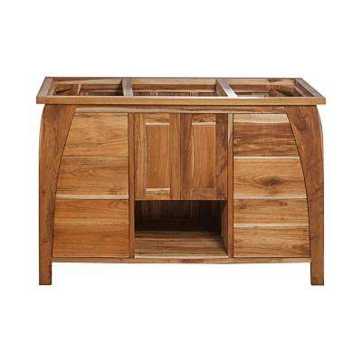 Tranquility 48 in. L Teak Vanity Cabinet Only in Natural Teak