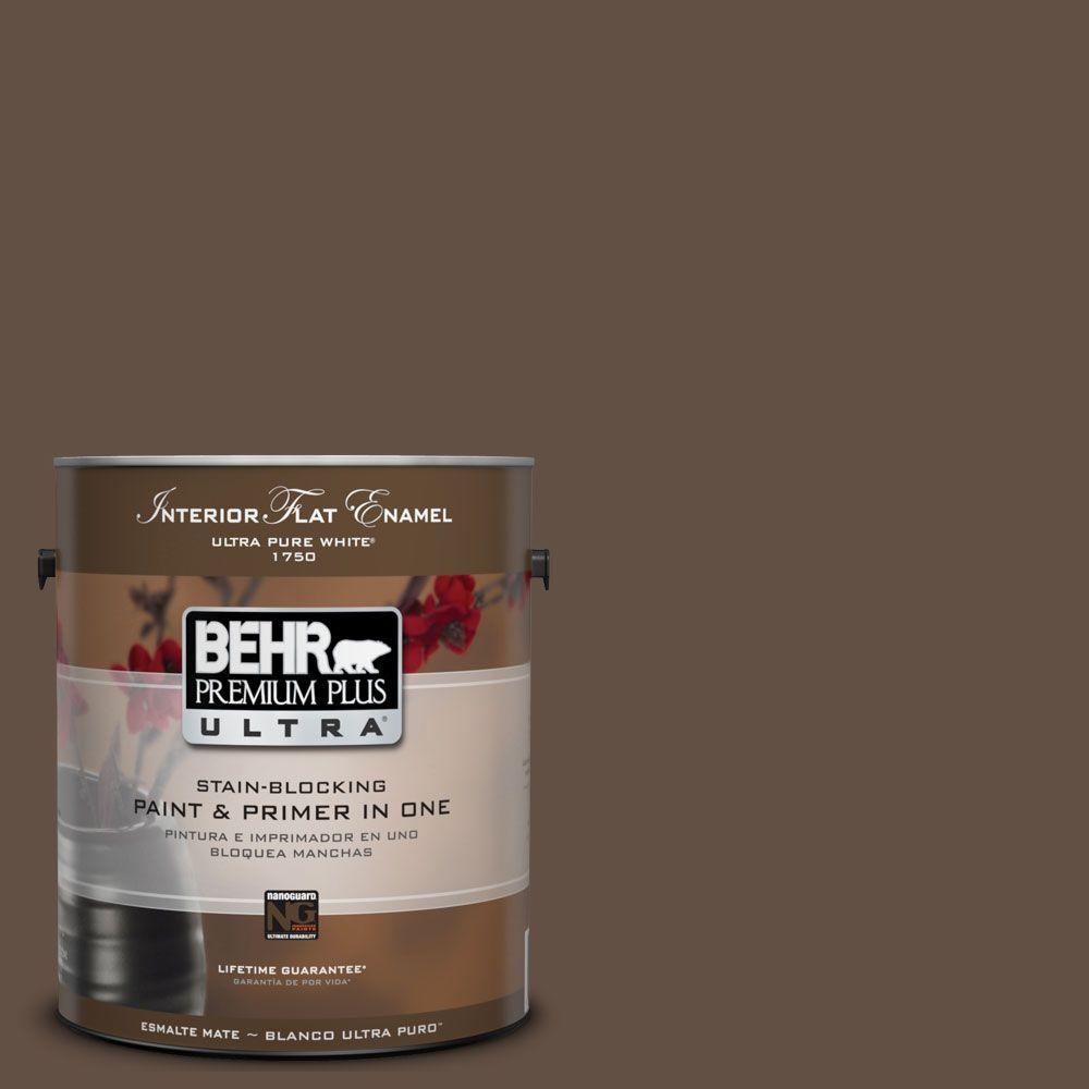 BEHR Premium Plus Ultra 1-Gal. #UL170-1 Pine Cone Interior Flat Enamel Paint