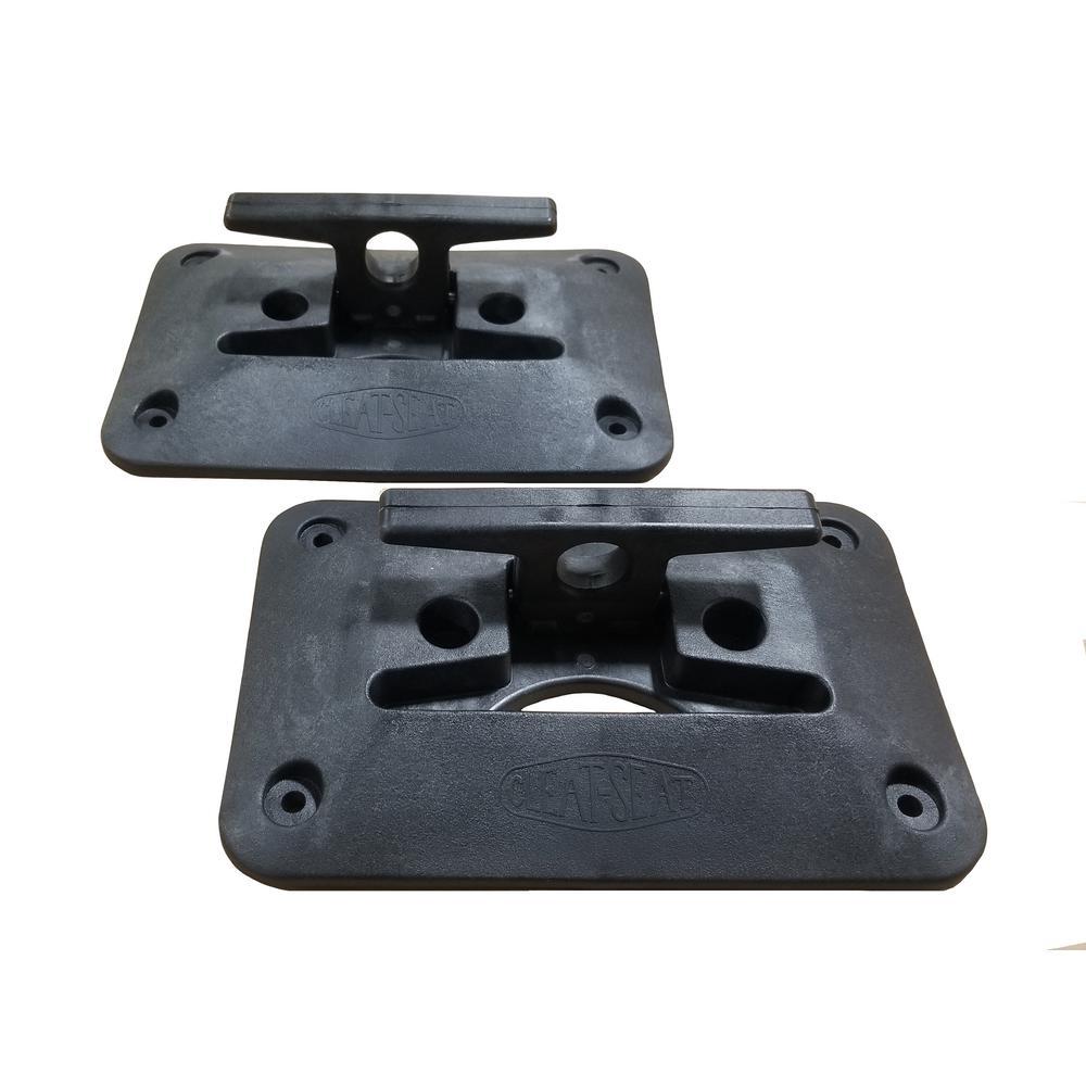 Folding Dock Cleat, Black (2-Pack)