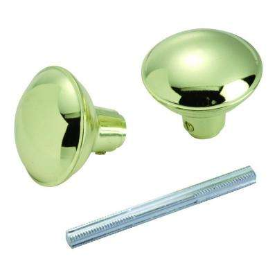 Polished Brass Knob Set with Spindle