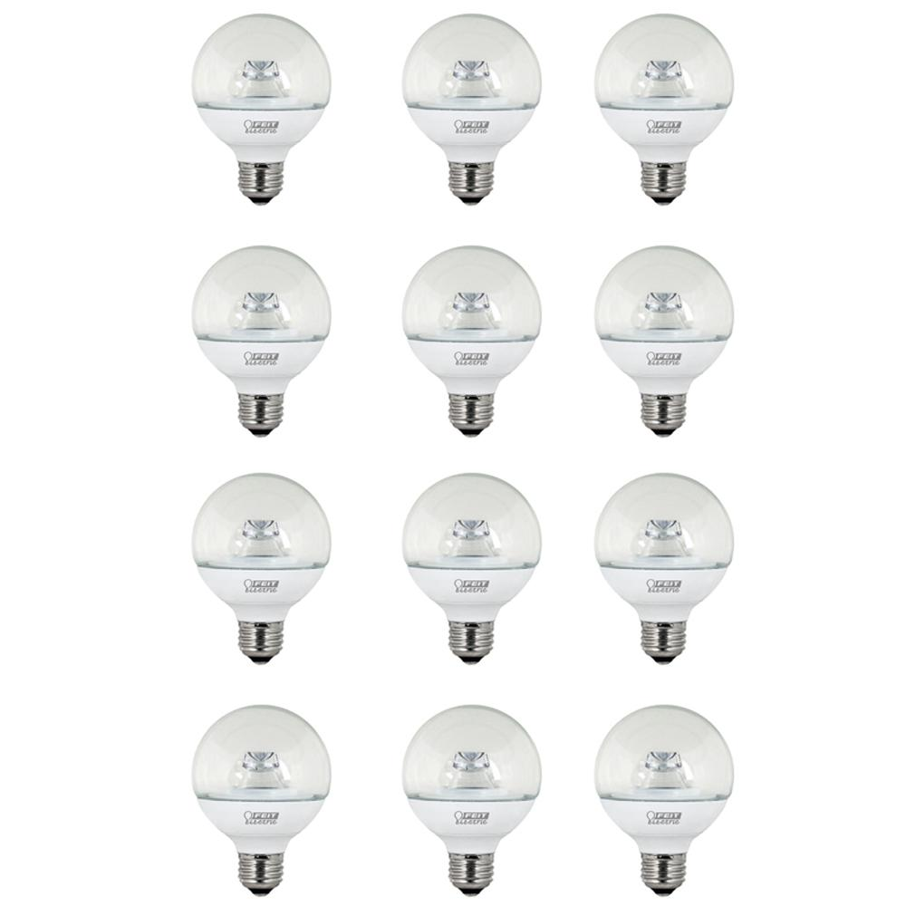 Feit Electric 40w Equivalent Daylight G25 Dimmable Clear: Feit Electric 40W Equivalent Warm White (3000K) G25