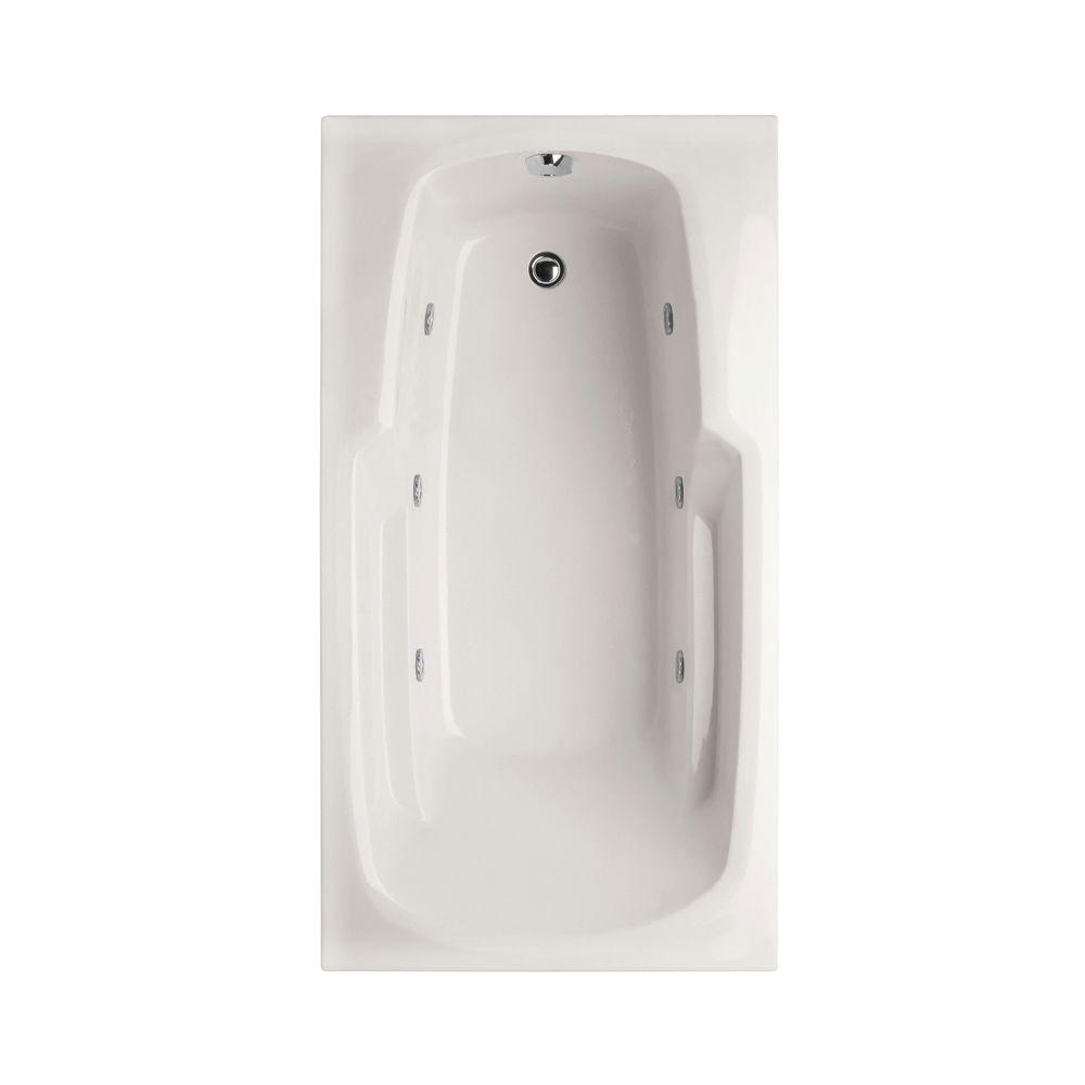 Napa 5.5 ft. Reversible Drain Whirlpool Tub in White