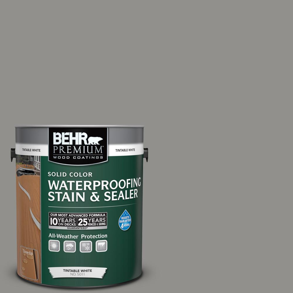 1 gal. #HDC-AC-19 Grant Gray Solid Waterproofing Stain and Sealer