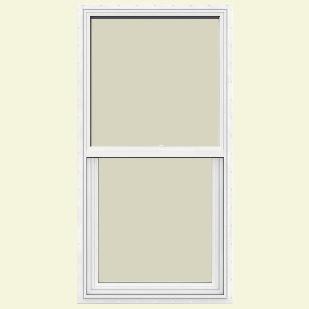 JELD-WEN 23.5 in. x 47.5 in. V-1500 Series Single Hung Vinyl Window - White